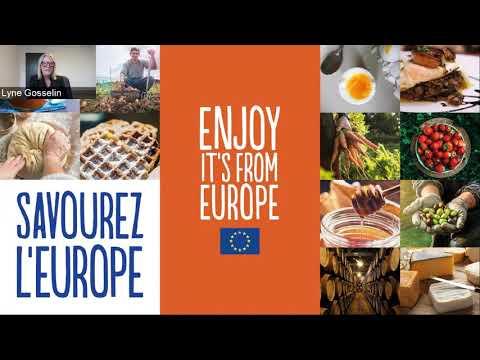 Les produits alimentaires européens : comment en profiter au Canada - webinaire avec L' Actualité