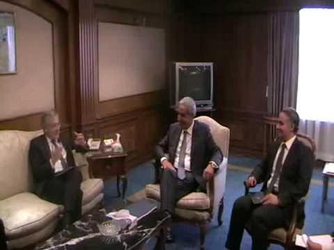 لقاء الوزير/طارق قابيل مع سفير المانيا بالقاهرة لبحث الاستعدادات الخاصة بزيارة الرئيس لالمانيا