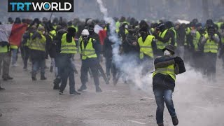 France Protests: Protesters clash with police in Paris