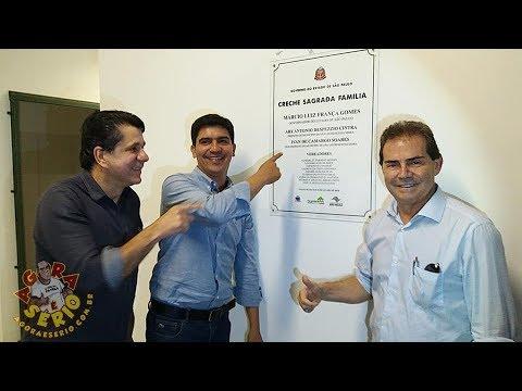 Prefeito Arizinho vai fazendo história em São Lourenço da Serra e deixa seu nome gravado na inauguração da linda creche no Bairro dos Carolinos em São Lourenço da Serra