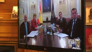 Videoconferencia de Su Majestad el Rey con el Instituto de la Ingeniería de España