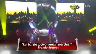Brenda Bezares canta  Es tarde para pedir perdón