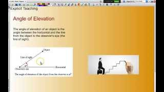 Working With Angles Of Elevation And Depression