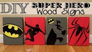 DIY Super Hero Wood Signs With Vinyl