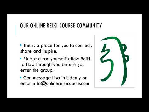 Our Online Reiki Course Community Facebook Group