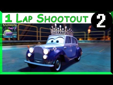 The Queen Cars 2 Game One Lap Shootout Hard Difficulty On Oil Rig Run Part 2
