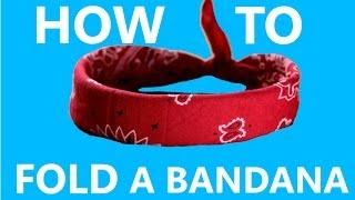 How To Fold/Tie A Bandana The REAL Way!