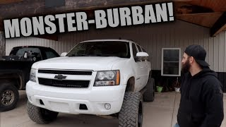 A CLOSER LOOK AT THE MONSTER-BURBAN BUILD!!!