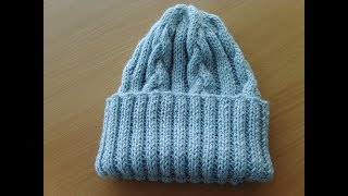 Шапочка с отворотом. Cap with lapel. Crochet.  Одежда крючком. Игрушки крючком.