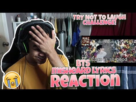 BTS Try Not To Laugh - Misheard Lyrics - REACTION | WHO COMES UP WITH THESE?!