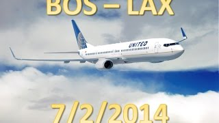 United Airlines Flight From Boston To Los Angeles