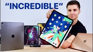 2018 iPad Pro Unboxing! 11 & 12.9-inch, MacBook Air & Apple Pencil 2!