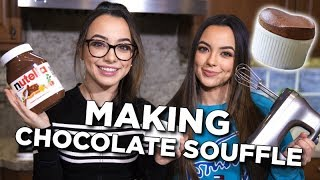 Making Chocolate Soufflé - Merrell Twins LIVE