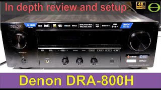 Unboxing, setup guide, and in depth review of the DENON DRA-800H AV stereo amplifier.