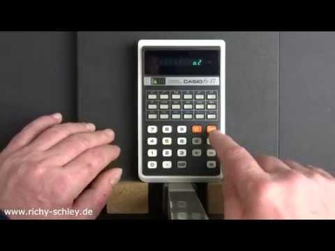 Casio FX-17 alter VFD (leuchtend) Taschenrechner 1976