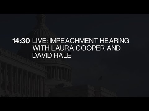 Impeachment Hearing With Laura Cooper And David Hale