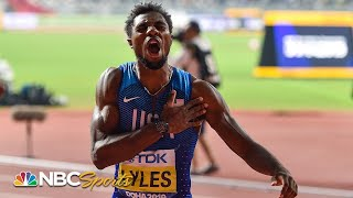 Noah Lyles' dramatic comeback makes him 200m world champion in Doha | NBC Sports