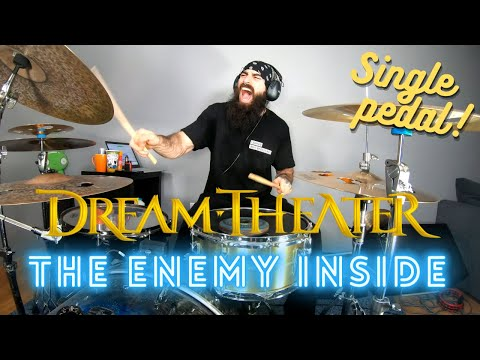 DREAM THEATER | THE ENEMY INSIDE but it's SINGLE PEDAL - DRUM COVER.