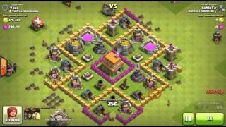 Атака 75 стенобоями 3 лвл (Clash Of Clans)