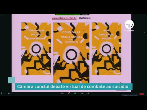 Câmara conclui debate virtual de combate ao suicídio - 16/09/20