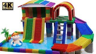 DIY - Cara Membangun Playground Kolam Renang Dari Magnetic Balls (Memuaskan) | Dunia Magnet 4K
