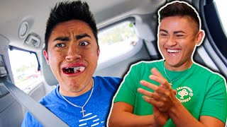 BROTHER REACTS TO WISDOM TEETH GETTING REMOVED **FUNNY**
