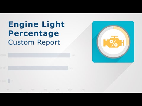 A video showing how Engine Light Percentage Report works.