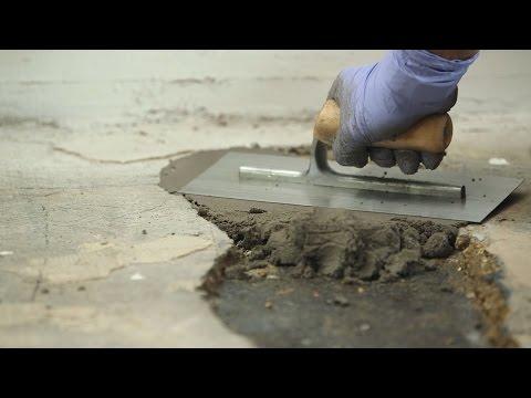 Löcher in Betonböden reparieren | Epoxidharzmörtel