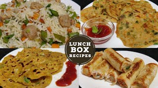 4 Quick & Healthy Lunch Box Ideas | Kids Lunch Box Recipes | Vegetarian Lunch Recipes