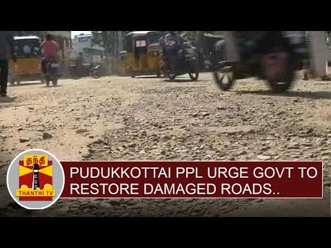 Pudukkottai-people-urge-Govt-to-restore-damaged-roads-Thanthi-TV