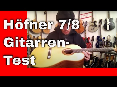 Ernesto Gitarrentest Hoefner 7 8 Gitarre HM65SS - Online Video Gitarrenkurse