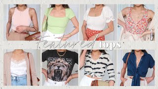 8 TOPS, 24 OUTFITS styling summer tops Under $50    1 Top, 3 Ways Nordstrom Haul   Miss Louie