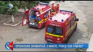 stirile kanal d  05.10.2017   operatiune dramatica  3 mineri prinsi sub pamant! editie completa