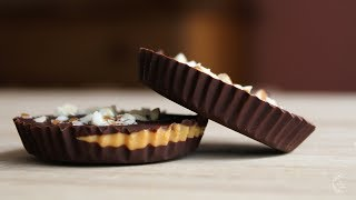 Easy Dark Chocolate Peanut Butter Cups Recipe | The Sweetest Journey