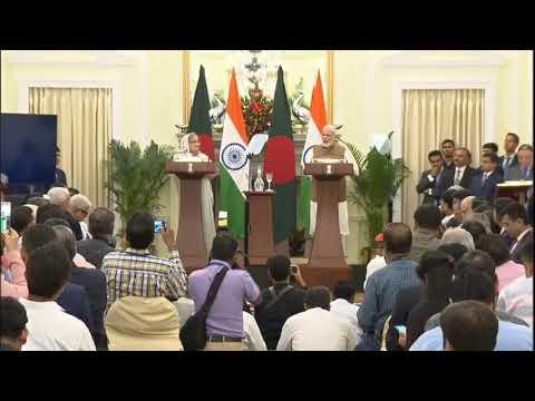 PM Shri Narendra Modi and Bangladesh PM Sheikh Hasina launch various projects