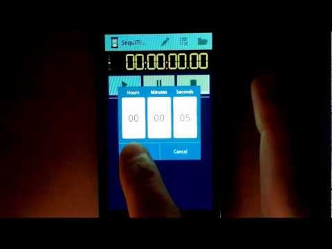 Video of SequiTimer interval timer