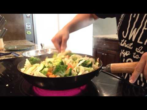 Hibachi Meal Series – Step 2 – Cooking Stir Fry Vegetables