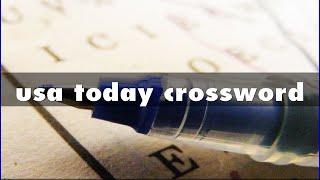 usa today crossword