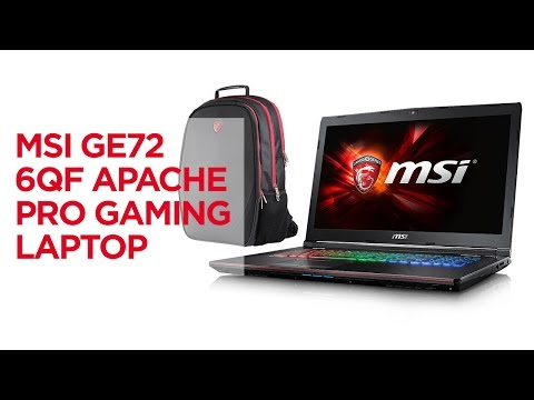 MSI GE72 6QF Apache Pro Gaming Laptop Unboxing and Review Benchmarks!