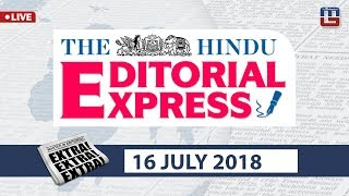 The Hindu Editorial Express at 9 am | 16 July | UPSC, RRB, SBI, IBPS, SSC