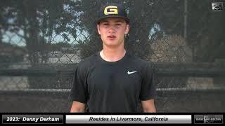 2023 Denny Derham Athletic Catcher and Shortstop Baseball Skills Video - Granada High School