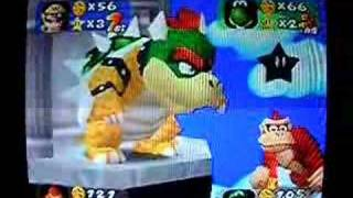 mario party donkey kong gets owned
