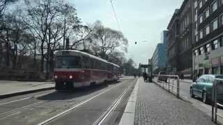 preview picture of video 'Trams in Prague 2012-03-03 and 2012-03-04 50fps'