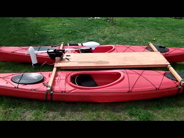 Kayak Catamaran with electric trolling motor Haswing Osapian 2