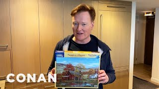 Conan Demonstrates How To Properly Sanitize Your Jigsaw Puzzle