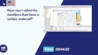 FAQ 004430 | How can I select the members that have a certain material?