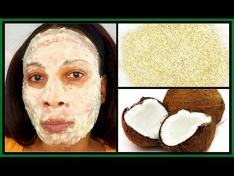 Facial mask matapos mekanikal paglilinis