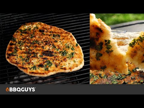 Primo Charcoal Kamado Recipes: Cheese and Garlic Naan Bread