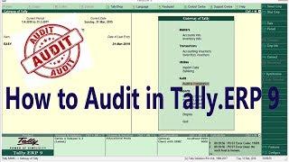 Audit Tally.ERP 9 in GST
