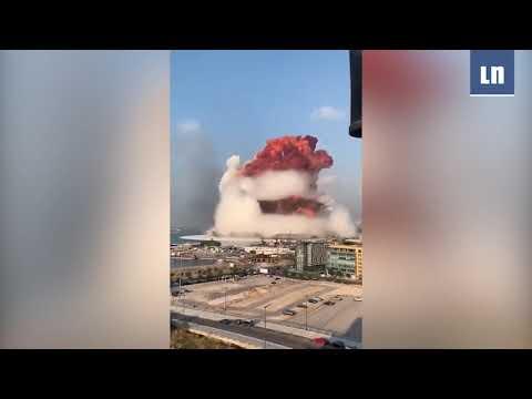 RECOPILACIÓN: videos muestran GRAN EXPLOSIÓN en Beirut, Líbano
